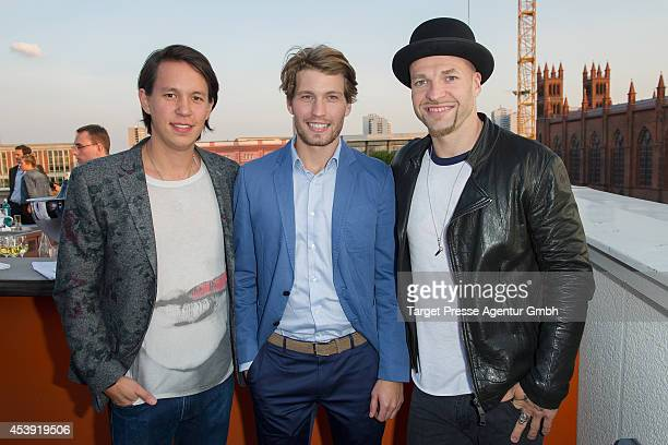 Chino Raul Richter and Mateo Jaschik attend the UFAMovie Nights 2014 at Bertelsmann Repraesentanz on August 21 2014 in Berlin Germany