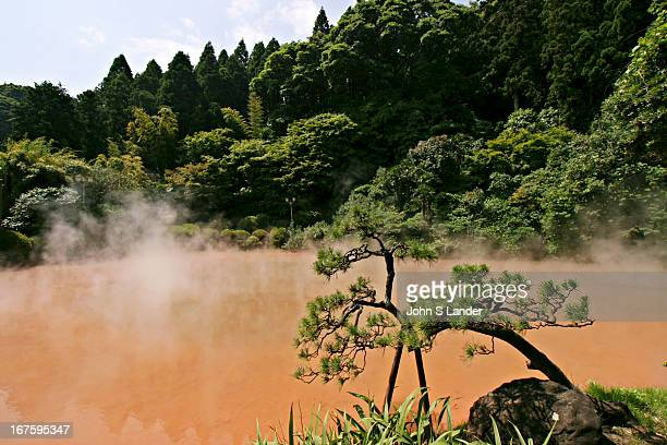 Chinoike Jigoku, or blood red hell, is also the source of a popular skin ointment made from the clay of this spring which reaches 78 degrees Celcius....