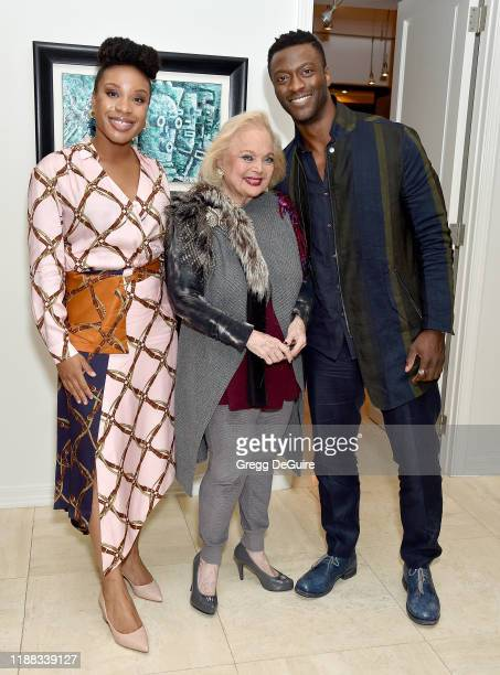 Chinonye Chukwu Carol Connors and Aldis Hodge attend the Los Angeles Special Screening of Clemency on December 12 2019 in Los Angeles California