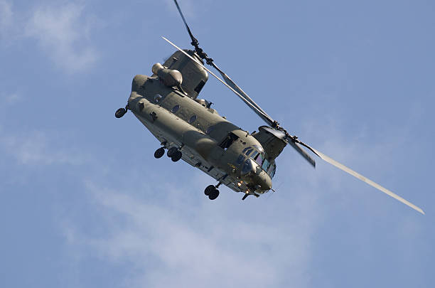 Chinook military transport helicopter