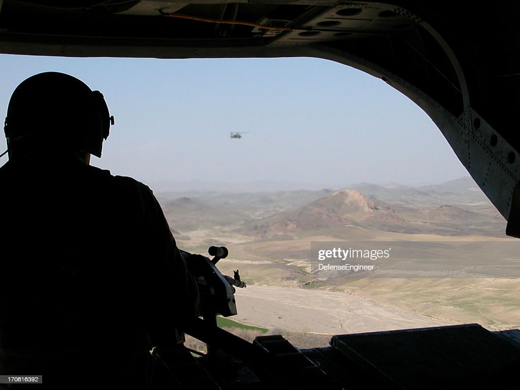 Chinook Over Afghanistan : Stock Photo