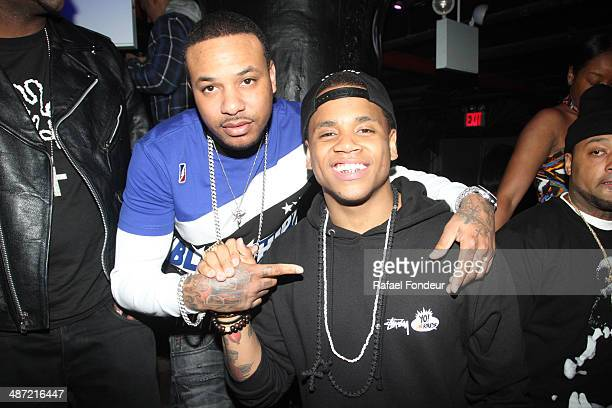Chinx Drugs and Tristan Wilds aka Mack Wilds are seen at WiP April 18 2014 in New York City