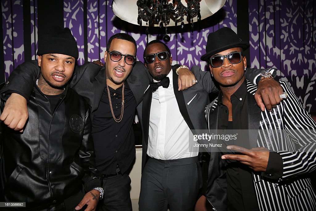 Chinx Drugz, French Montana, Sean 'Diddy' Combs and Ne-Yo attend Compound Entertainment And Malibu Red GRAMMY Midnight Brunch 2013 at Bagatelle/STK on February 9, 2013 in West Hollywood, California.
