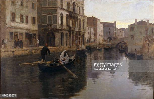 'Chioggia by Leonardo Bazzaro 19th Century oil on canvas 130 x 200 cm Italy Lazio Rome National Gallery of Modern and Contemporary ArtGNAM Whole...