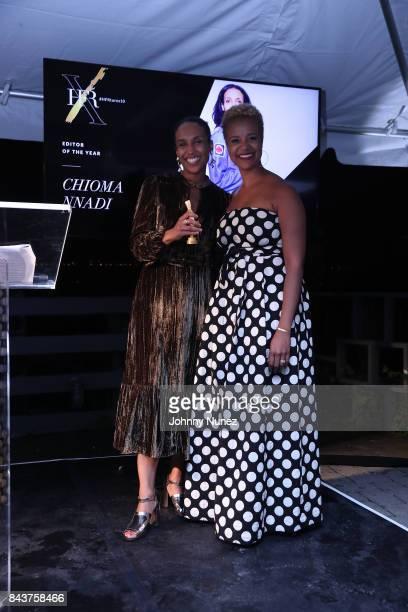Chioma Nnadi and Brandice Daniel Attend Harlem's Fashion Row at La Marina Restaurant Bar Beach Lounge on September 6 2017 in New York City