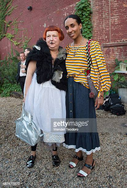 Chioma Nnadi and Lynn Yaeger attend the Rachel Comey show at Pioneer Works on September 9 2015 in the Brooklyn borough of New York City