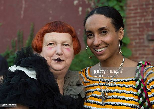Chioma Nnadi and Lynn Yaegerattend the Rachel Comey show at Pioneer Works on September 9 2015 in the Brooklyn borough of New York City