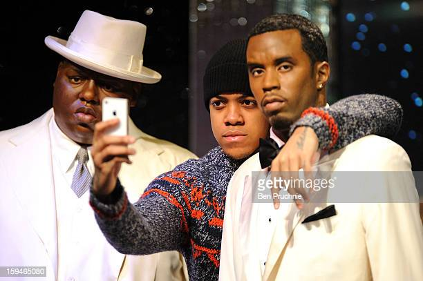 Chip attends a photocall to launch the new wax figures of Rap stars Tupac Shakur, Snoop Dogg, The Notorious B.I.G and P Diddy exhibited together for...