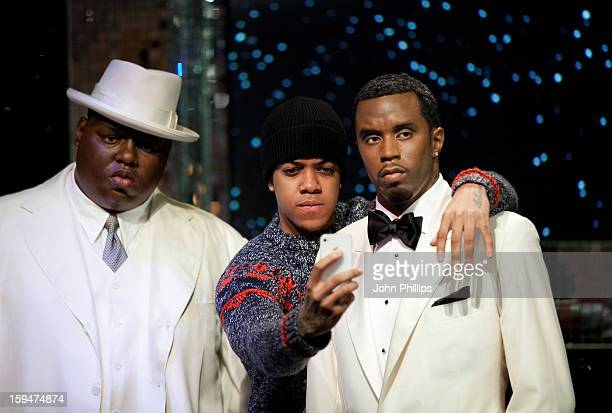 Chip attends a photocall to launch the new wax figures of rap stars Biggie Smalls and P Diddy < exhibited together for the first time in London at...