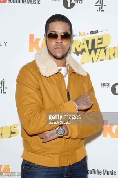 Chip attends UK Grime and Hip Hop event, the KA & GRM Daily RATED AWARDS 2018 at Eventim Apollo on September 4, 2018 in London, England.