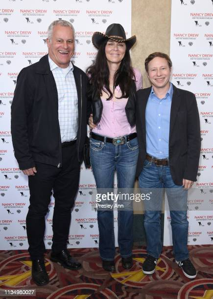 Chip Diggins Katt Shea and Jeff Kleeman attend the red carpet premiere of 'Nancy Drew and the Hidden Staircase' at AMC Century City 15 on March 10...