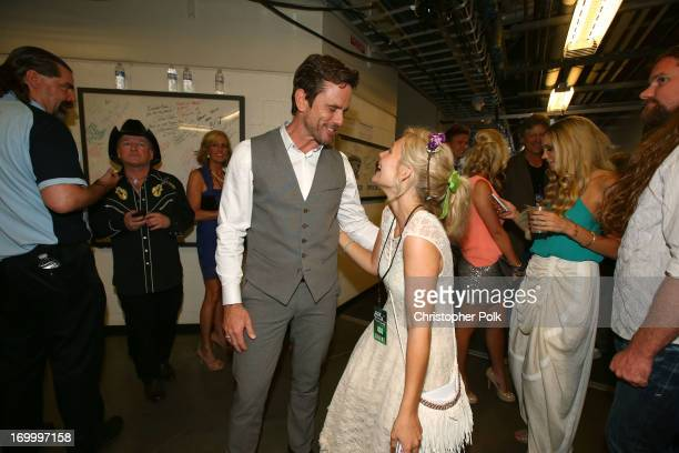 Chip Esten and Clare Bowen of Nashville attend the 2013 CMT Music awards at the Bridgestone Arena on June 5 2013 in Nashville Tennessee