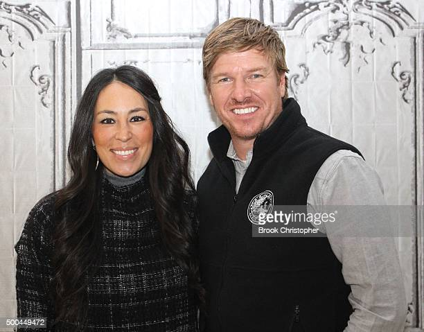Chip Gaines and Joanna Gaines discuss their hit show Fixer Upper at AOL Studios In New York on December 8 2015 in New York City