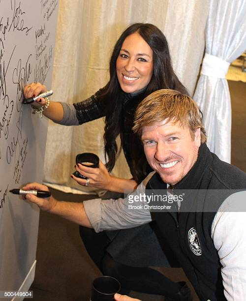 Chip Gaines and Joanna Gaines discuss their hit show 'Fixer Upper' at AOL Studios In New York on December 8 2015 in New York City
