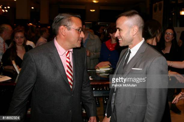Chip Kidd and Thom Browne attend The launch of 'True Prep' at Brooks Brothers on September 14 2010 in New York