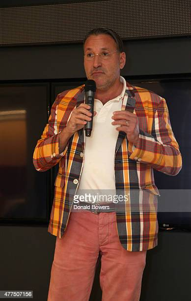 Chip Kidd speaks during the book release party for Gina Barnett's Play the Part at GLG on June 17 2015 in New York City