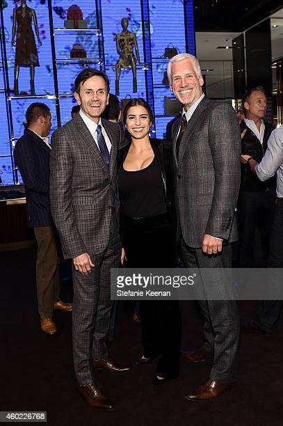 Chip Sullivan Laura Katzenberg and Kevin Brockman attend Gucci Hosts Private Cocktail Party To Benefit GLSEN at Gucci Los Angeles on December 9 2014...