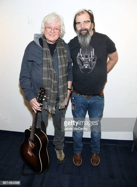 Chip Taylor and Steve Earle visit SiriusXMat SiriusXM Studios on March 13 2018 in New York City