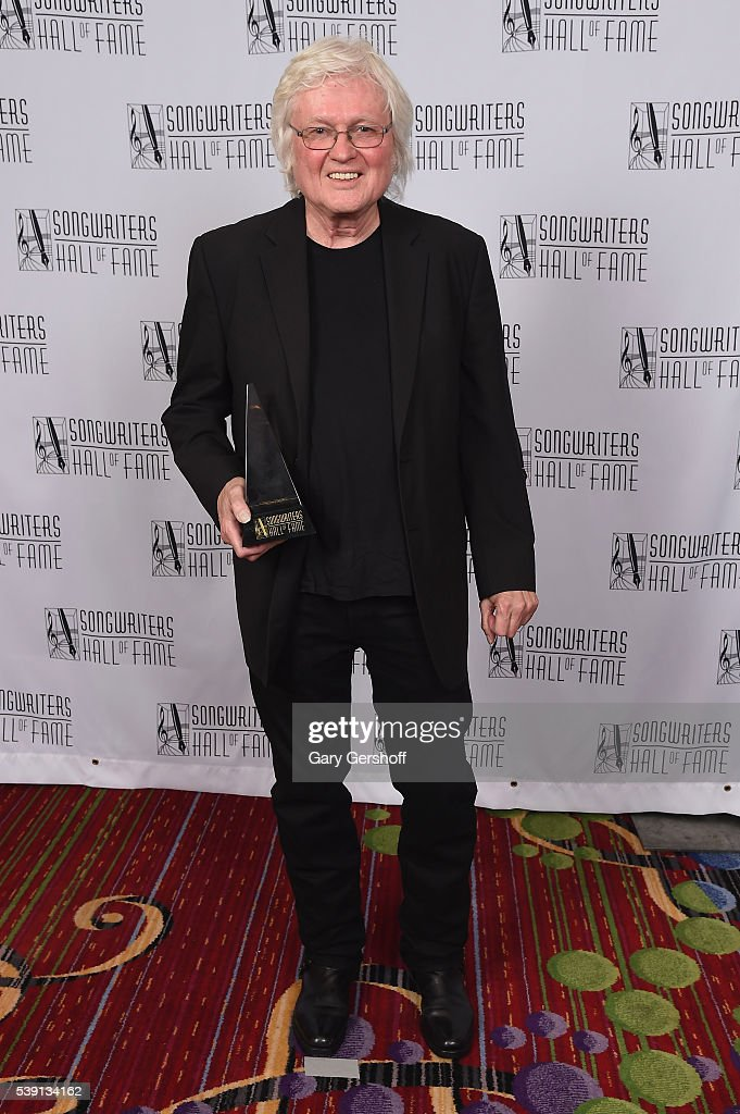 Chip Taylor poses with award during Songwriters Hall Of Fame 47th Annual Induction And Awards at Marriott Marquis Hotel on June 9, 2016 in New York City.