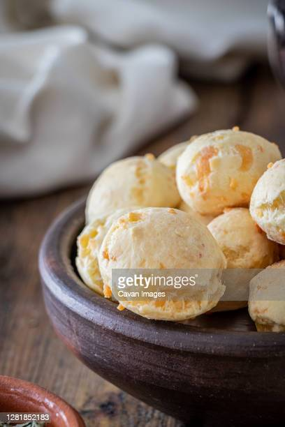 chipa is a brazilian, argentinean snack cheese bread, pao de queijo. - queijo ストックフォトと画像