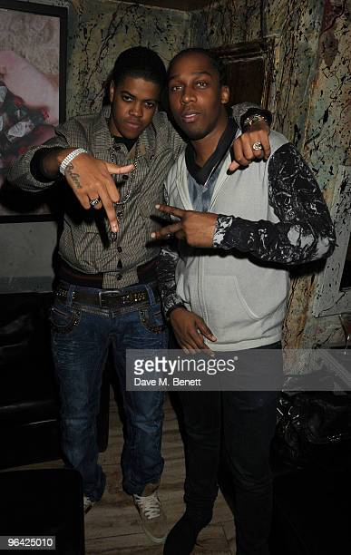 Chipmunk and Lemar attend the launch party of Secret Circus at The Wellington Club on February 4 2010 in London England