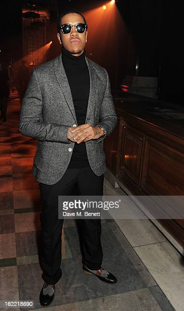 Chipmunk attends the Universal Music Brits Party hosted by Bacardi at the Soho House popup on February 20 2013 in London England