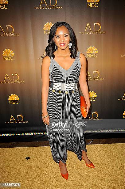 Chipo Chung attends 'AD The Bible Continues' New York Premiere Reception at The Highline Hotel on March 31 2015 in New York City