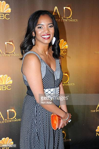 Chipo Chung attends the 'AD The Bible Continues' New York Premiere Reception at The Highline Hotel on March 31 2015 in New York City