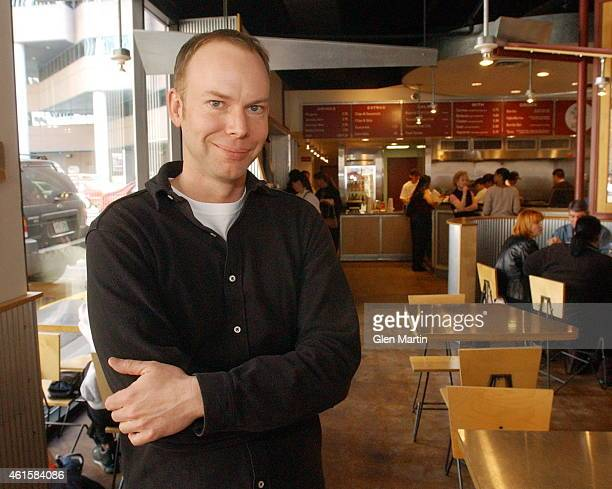 Chipotle CEO Steve Ells visiting the Chipotle between 16th and 17th California St Downtown Denver Story is about how Chipotle is in an uphill battle...