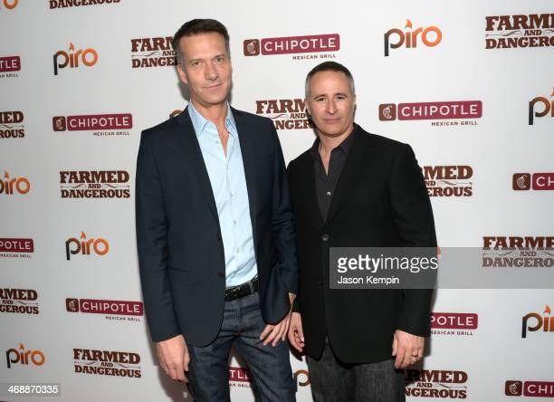Chipotle Chief Marketing Development Officer Mark Crumpacker and Chipotle Brand Voice Lead William Espey walk the red carpet at the world premiere of...
