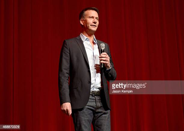 Chipotle Chief Marketing Development Officer Mark Crumpacker speaks onstage at the world premiere of 'Farmed and Dangerous' a Chipotle/Piro...