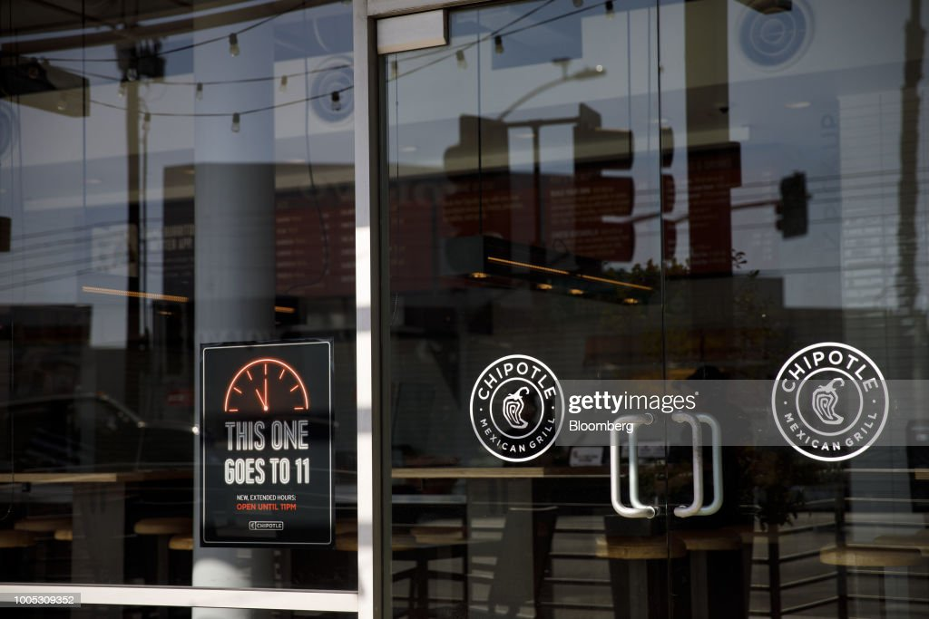 Chipotle Mexican Grill Inc  signage is displayed on the