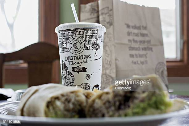 Chipotle Mexican Grill Inc takeout food is arranged for a photograph in Tiskilwa Illinois US on Friday April 22 2016 Chipotle Mexican Grill Inc is...