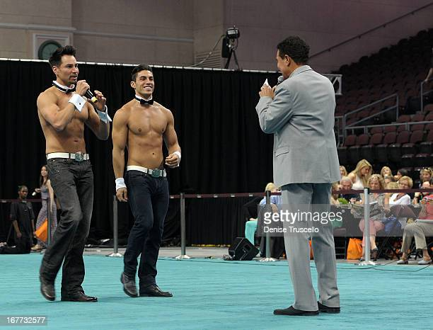 Chippendale dancers and Clint Holmes appear during The Animal Foundation's 10th annual 'Best in Show' a benefit for the animal shelter at the Orleans...