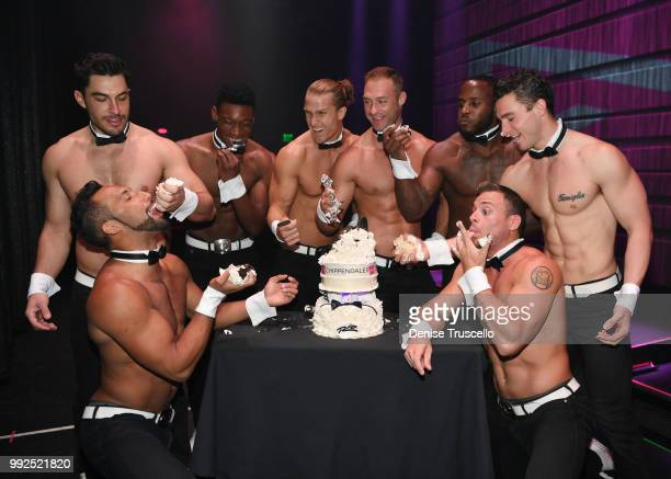 Chippendales celebrates its 7000th performance at Rio AllSuite Hotel Casino on July 5 2018 in Las Vegas Nevada