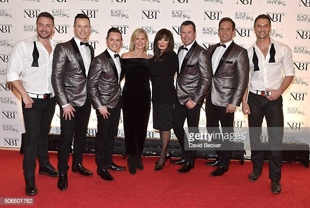 Chippendales dancer James Davis singers Toby Allen and Michael Tierney of the Australian vocal group Human Nature entertainers Olivia NewtonJohn and...