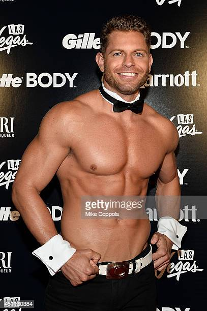 Chippendales' dancer Jaymes Vaughan poses for the 2014 OUT Magazine Hot List NY Pride Party on June 24 2014 in New York City