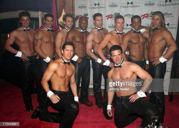 Chippendales Dancers during Opening Night of Chippendales at The Rio in Las Vegas at Rio all Suite Hotel and Casino in Las Vegas Nevada United States