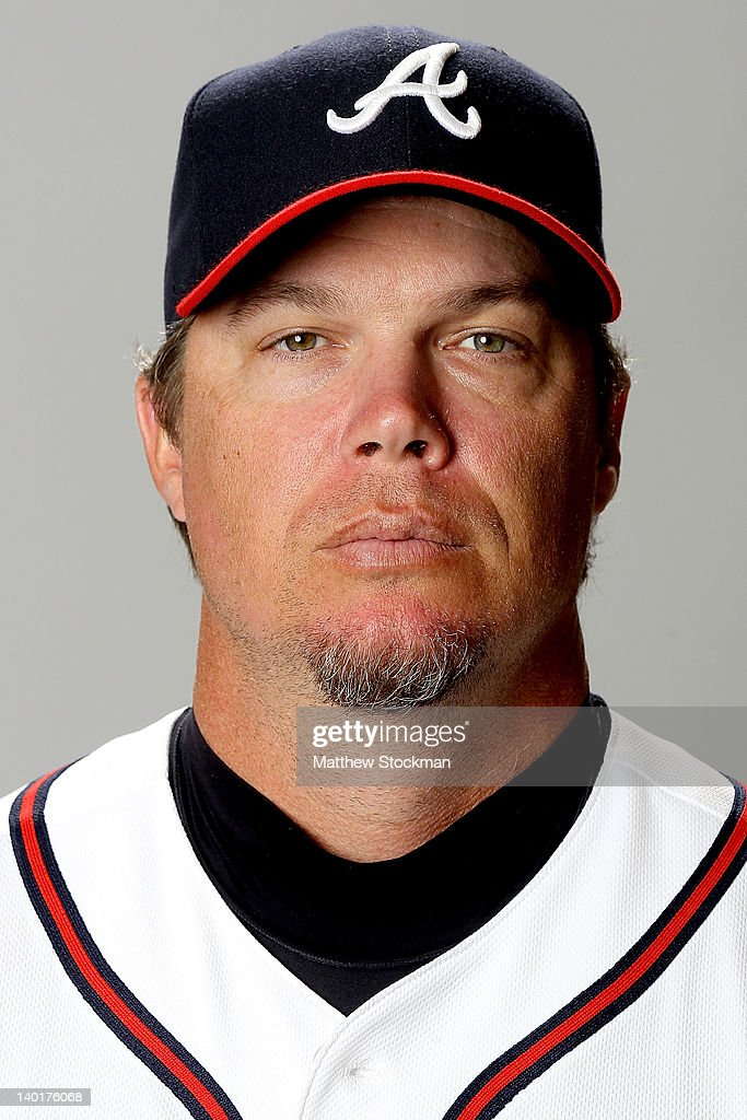 Chipper Jones of the Atlanta Braves poses for a portrait during photo day at Champion Stadium on February 29, 2012 in Lake Buena Vista, Florida.