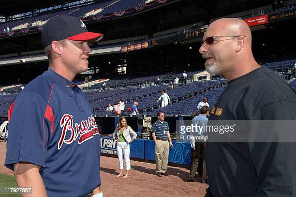 Chipper Jones of the Atlanta Braves with Bill Goldberg