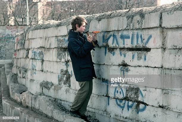 Chipping Away at Berlin Wall