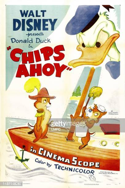 Donald Duck bottom from left Chip Dale 1956
