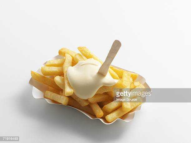 chips and mayonnaise - mayonnaise stock pictures, royalty-free photos & images