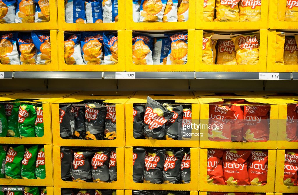 Chips Are Displayed For Sale During The Grand Opening Of The Lidl