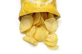 Chips spilling out of an open bag