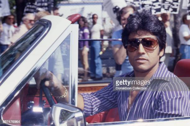 CHIPs star Erik Estrada attends SAG and AFTRA Actors On Strike in circa 1980 in Los Angeles California