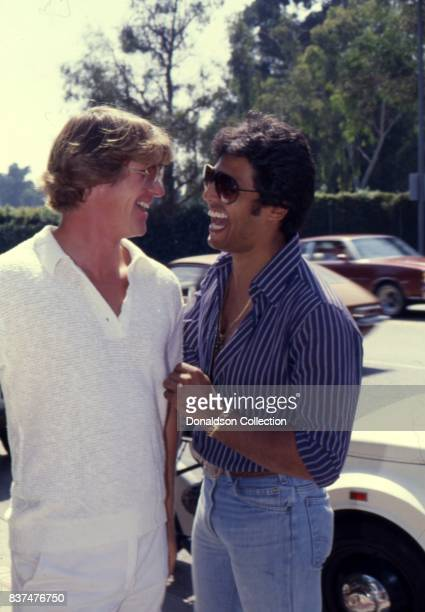 CHIPs stars Erik Estrada and Larry Wilxox attend SAG and AFTRA Actors On Strike in circa 1980 in Los Angeles California