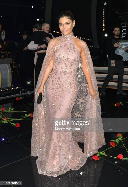Chiquinquirá Delgado at Mira Quien Baila All Stars 6th week at Univision Studios on February 16 2020 in Miami Florida