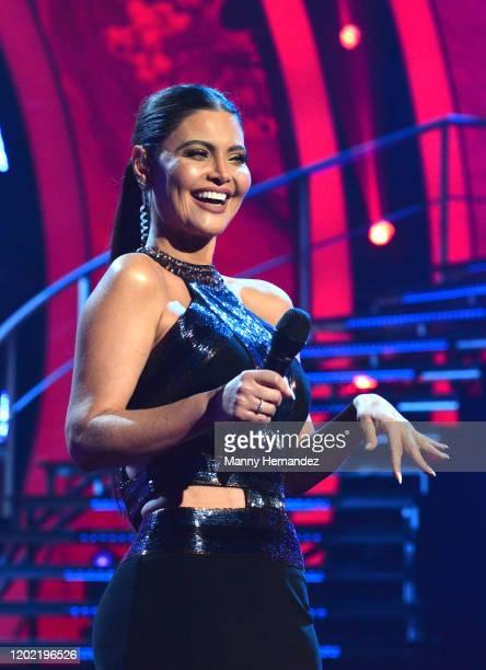 Chiquinquirá Delgado at Mira Quien Baila All Stars Week 3 at Univision Studios in Miami FL on January 26 2020