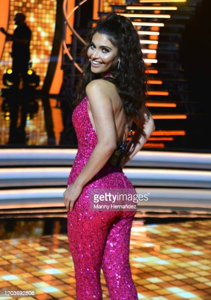 Chiquinquirá Delgado at Mira Quien Baila All Stars Week 4 at Univision Studios in Miami FL on February 2 2020 This week's episode featured tributes...